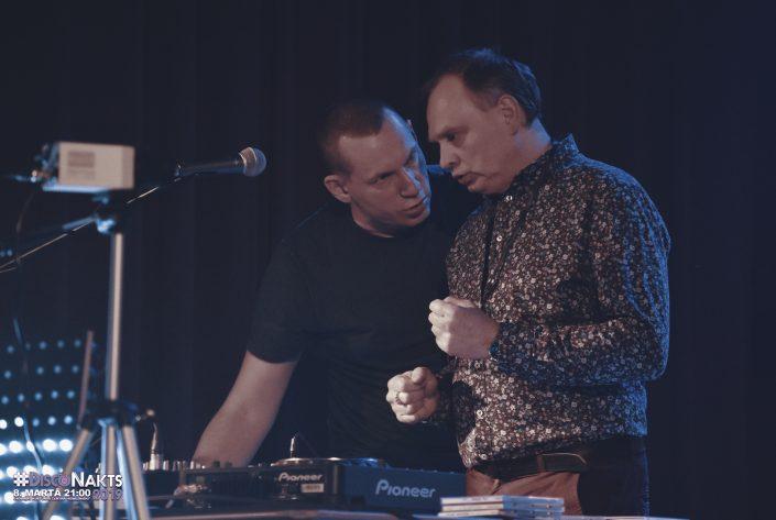 DJ Uldis Ozoliņš un DJ Ints Indriksons. Radošs mirklis.